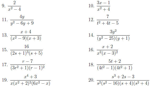 Integrals of Rational Functions – Rational Functions Worksheet